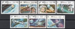 Cambogia 1985 Sc. 575-581 Soviet Space Achievements Realizzazioni Spaziali Sovietiche Full Set CTO Cambodia Kampuchea - Cambogia