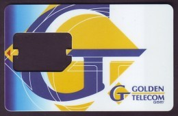 UKRAINE. GOLDEN TELECOM GSM SIM-CARD. Frame Without Chip. Nr. 8 - Oekraïne