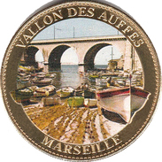 13 MARSEILLE VALLON DES AUFFES MÉDAILLE ARTHUS BERTRAND 2011 EN COULEURS JETON MEDALS TOKENS COINS PAS MONNAIE DE PARIS - Arthus Bertrand