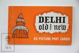 Vintage India Souvenir Postcard Folder - Delhi Old & New - 20 Picture Post Cards - India