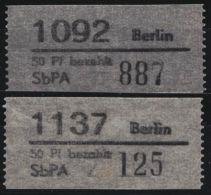 Paketnummernzettel :, MiNr. 1, Beide Postämter Komplett, ** - DDR