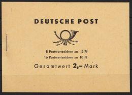 """MH 4 C 2 """"Ulbricht"""", MHBl. 10 Mit Schwarzer BZN Oben, Andere Blätter Ohne BZN , ** - Markenheftchen"""