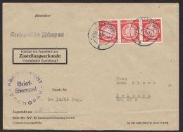 """MiNr. 11, MeF Mit 3 Werten Auf ZU """"Zschopau"""", 27.3.55 - DDR"""