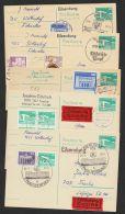 P 84, 5 Karten Per Eilboten Mit Pass. Zusatzfrankatur, Alle Mit Ankunft - DDR