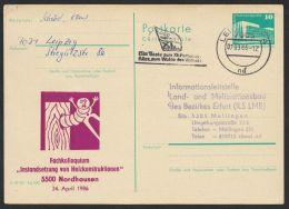 "P 84 C 139 ""Holzkonstruktionen Nordhausen"", 1986, Bedarf - DDR"