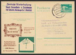 "P 84 C 150 ""Bauschäden Weimar"", 1986, Bedarf - DDR"