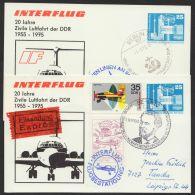 """PP 17 C 1/01 A + /01 B, """"Interflug"""", 2 Versch. Karten, Je Mit Pass. Zusatzfr. Als Eilboten - DDR"""