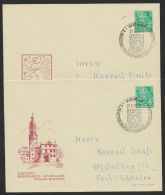 """PU 10 D 2/02 A + /02 B, """"Weimar"""", 1956, 2 Versch. Umschläge, Ja Pass. Sst. - DDR"""