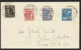 """Gem.Ausg. 943, 950, 956, 957, 10fach Frankatur Auf Ortsbrief """"Berlin"""", 26.6.48 - Berlin (West)"""