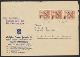 MiNr. 65, MeF Mit 3 Werten, Bedarfsbrief In Die Schweiz - Berlin (West)