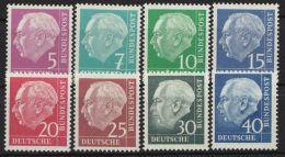 """MiNr. 179/260 Y """"Heuß-lumogen"""", Kplt. Satz, ** - BRD"""