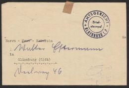 """Ortsbrief Mit K 2 """"Oldenburg"""", 25.3.52, Amtsgerichtsbriefstempel, Selten ! - BRD"""