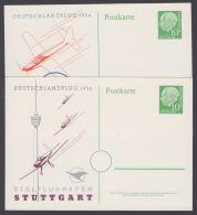 "PP 8 C 2/01 A + /01 B ""Deutschlandflug"", 1956, Beide Karten, * - BRD"