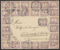 """MiNr. 49, MeF Mit 25 Werten """"s´Gravenhage"""", Nach Deutschland - 1891-1948 (Wilhelmine)"""