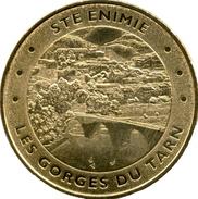 48 LOZÈRE SAINTE ENIMIE GORGES DU TARN MÉDAILLE MONNAIE DE PARIS 2012 JETON TOKEN MEDALS COINS - Monnaie De Paris
