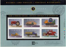 PIA - CANADA - 1995 : Veicoli Storici Per L' Agricoltura E Le Esportazioni - (Yv Bf 13) - Blocchi & Foglietti