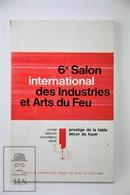 Vintage Crystal Faience Porcelain Glass - France - 6e Salon International Des Industries Et Arts Du Feu, 1966 - Libros, Revistas, Cómics
