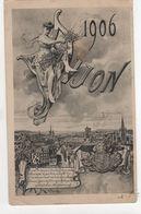 CPA - Carte  - Année 1906 - Dijon - Otros