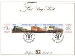 FDS - First Day Sheet - 2001*8 - OBP 2993/95 - Treinen   Trains Card Nr 2 - 2001-10