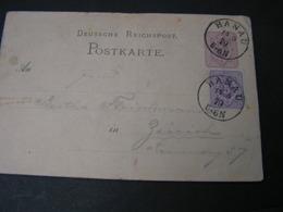 Hana Karte Zürich 1879 - Stamped Stationery