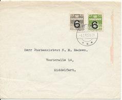 Denmark Cover Middelfart 1-2-1942 Overprinted Stamps - 1913-47 (Christian X)