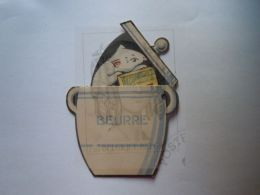 """Reclame Publicité Margarine """"Le Drapeau"""" De Vlag Merxem (Anvers) Tas Muis Beweegbaar Deel Souris à Tirette Form 8,5 X 12 - Reclame"""