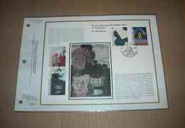 FEUILLET TIMBRE MUSEES ROYAUX DES BEAUX ARTS DE BELGIQUE ART MODERNE CEF 1 Er Jour + SOIE 1984 - Feuillets De Luxe