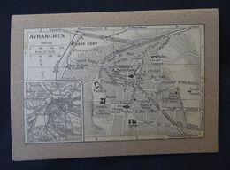 Plan Ancien De Avranches, ( MANCHE ), Datant De 1952. - Cartes Géographiques
