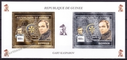 Guinée Republique - Guinea 2002 Yvert BF 210AK, Chess, Great Champion Gary Kasparov, Rotary - MNH - República De Guinea (1958-...)