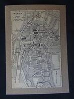 Plan Ancien De Meaux, ( Seine Et Marne), Datant De 1921. - Cartes Géographiques