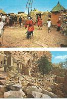 DANSES DE MASQUES DOGON - FALAISES DE BANDIAGARA Village D'IRELI-MALI.  (scan Verso) - Mali