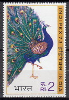 India 1973 (MNH) - Indian Peafowl (Pavo Cristatus) - Peacocks