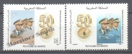 Maroc - Morocco 2006 Yvert 1417-18, 50th Anniv. Of The Royal Military Forces - MNH - Marruecos (1956-...)