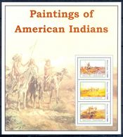 A108- Sierra Leone. Painting Of American Indians. - Art