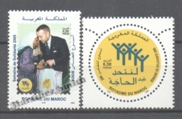 Maroc - Morocco 2005 Yvert 1378-79, Solidarity Week - MNH - Marruecos (1956-...)