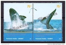 Argentina 2002 Yvert 2324- 25, MERCOSUR, Tourism - Valdes Peninsula - MNH - Argentina