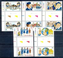 A115- Isle Of Mam 1985 Mint Never Hinged Girl  Scouts With Gutter Pare. Scouting. - Scouting