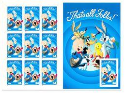 A116- USA 2001 Self Adhesive Stamps. Post Box, Cartoon, Bugs Bunny, Fairy Tales. - Disney