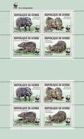 GUINEA 2009 - WWF Wild Boar 2 Sets - YT 4286-9; CV = 30 € - Unused Stamps