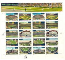 A117- USA 2001 Self Adhesive Stamps. Sports. Baseballa Legendary Playing Fields. - Baseball