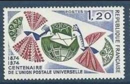 """FR YT 1817 """" Centenaire De L'UPU """" 1974 Neuf** - Unused Stamps"""