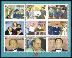 A125- Dominica Miniature Sheet. The Three Stoogk. - Dominica (1978-...)
