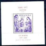 A129- Rwanda 1977. Fine Art.  Nativite. P.P.Rubens 1577-1640. - Rwanda