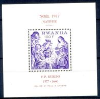A129- Rwanda 1977. Fine Art.  Nativite. P.P.Rubens 1577-1640. - 1970-79: Mint/hinged
