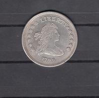 USA 1799 1 Dollar 13 Stars Heraldic Eagle Forgery - United States