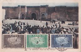 Ancienne Carte Postale Maroc - Meknès - Porte Dite Bab Mansour - Meknès