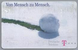 DE.- Telecom TELEFONKARTE. 12 DM. - Von Mensche Zu Mensch. Sneeuwbal. - A 30 10.98 - Telefoon