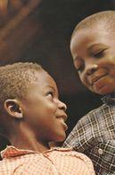Sorriso Di Bimbi Zairesi (centro Africa).  (scan Verso) - Central African Republic