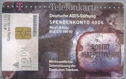 DE.- Telecom TELEFONKARTE. 12 DM. - Deutsche AIDS-Stiftung SPENDENKONTO 4004. West LB Köln. NAMEN UND STEINE - Telefoonkaarten