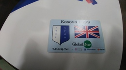 Kosovo-global One-T.C.G/Q-tel-used Card+1card Prepidfree - Kosovo